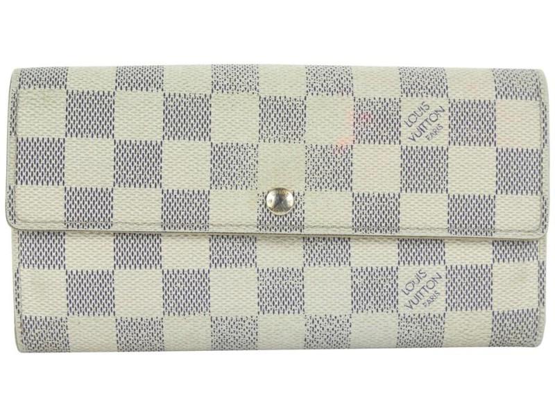 Louis Vuitton Damier Azur Sarah Wallet Porte Tresor 10lvs18