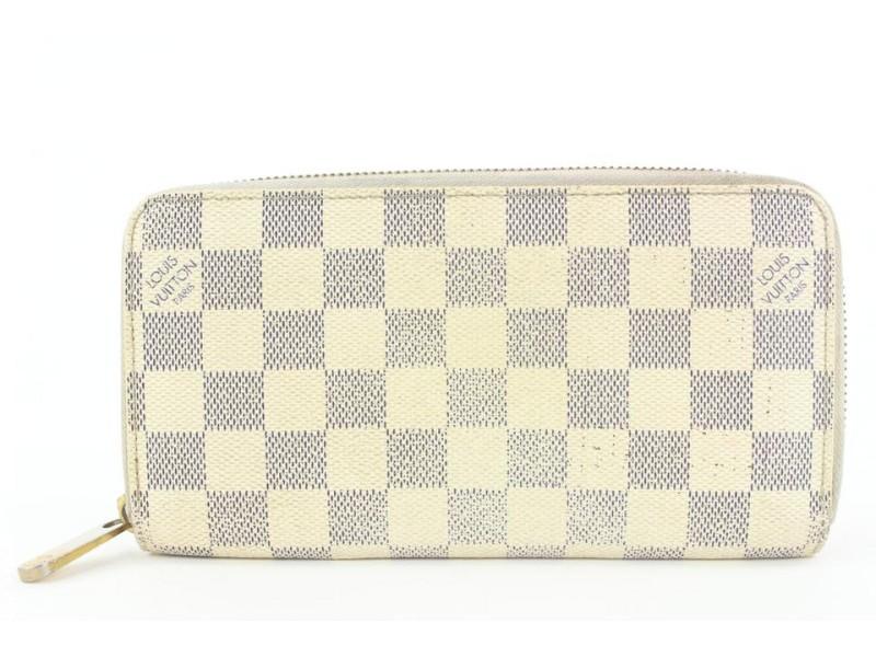 Louis Vuitton Damier Azur Zippy Wallet Zip Around 4lvs17