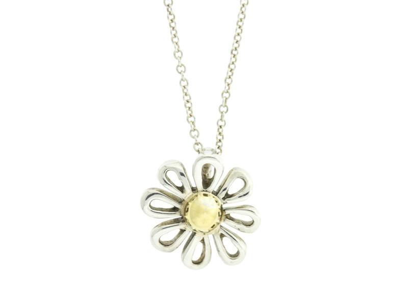 Tiffany & Co. Elsa Peretti 18k Yellow Gold and Sterling Silver Daisy Necklace