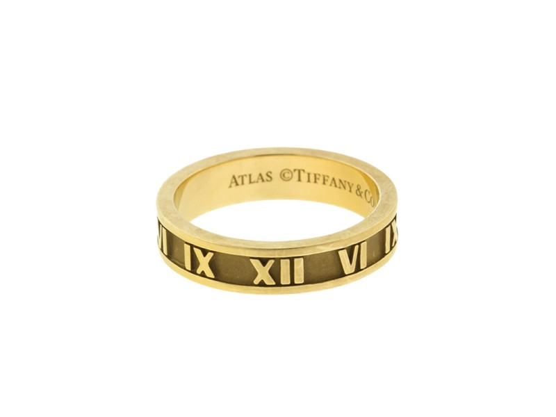 Tiffany & Co. 18k Yellow Gold Atlas Ring