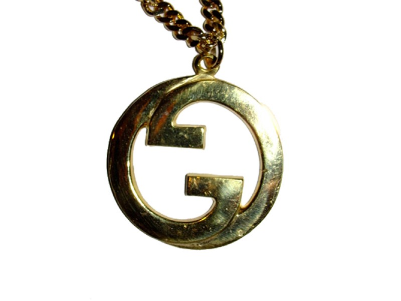 Large 18 kt gold plated gucci pendant necklace gucci buy at large 18 kt gold plated gucci pendant necklace aloadofball