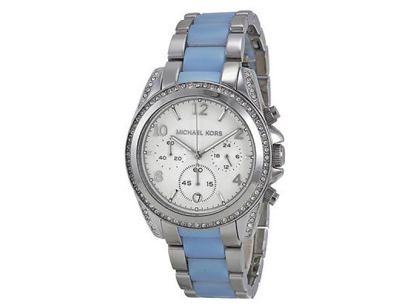 Michael Kors MK6137 39mm Blair Silver Chronograph Watch