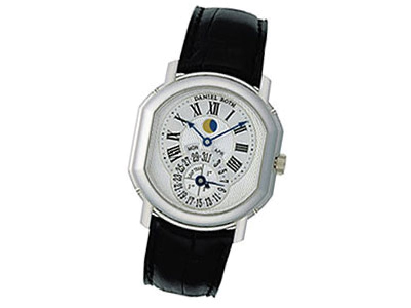 "Daniel Roth ""Moon Phase Perpetual Calendar"" 18K White Gold Watch"