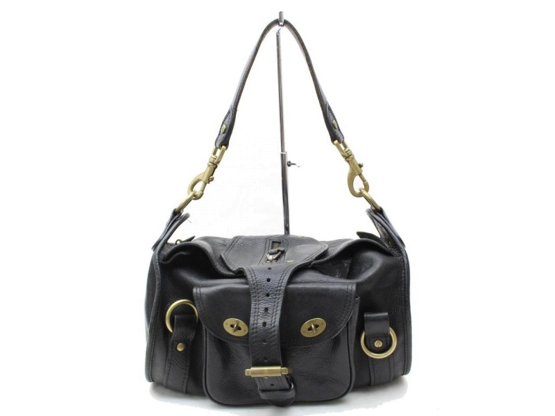 Mulberry Black Leather Buckle 865601 Shoulder Bag