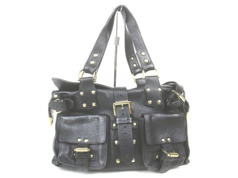 Mulberry Black Leather Roxanne Shoulder Bag 861583