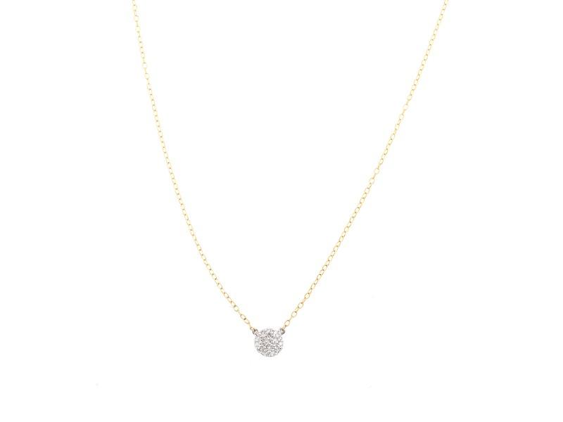 Jordan Scott Design Pave Single Dot Necklace