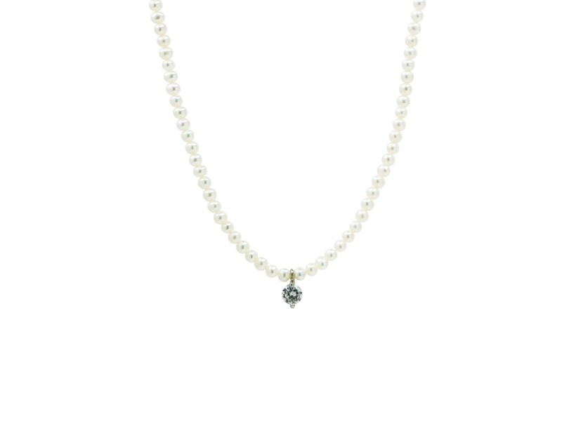Perlatelier Pearl Crystal Necklace