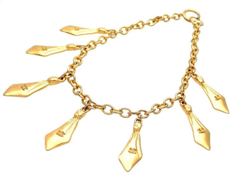 Vintage Chanel Necklace Multiple Ties CC Logo