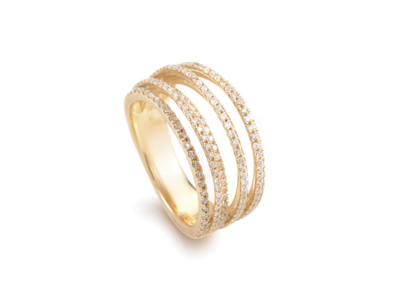 Odelia 18K Yellow Gold Diamond Band Ring