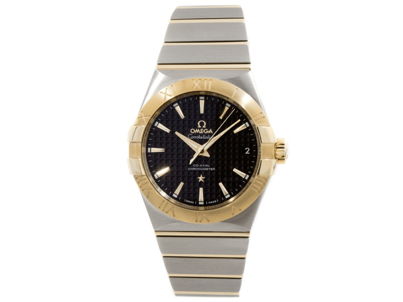 Omega Constellation 123.20.38.21.01.002 Stainless Steel & 18K Yellow Gold Mens Watch