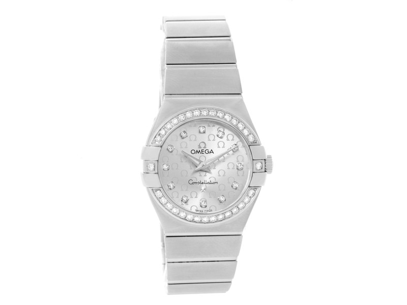 Omega Constellation 123.15.27.60.52.001 Stainless Steel wDiamond 27mm Womens Watch