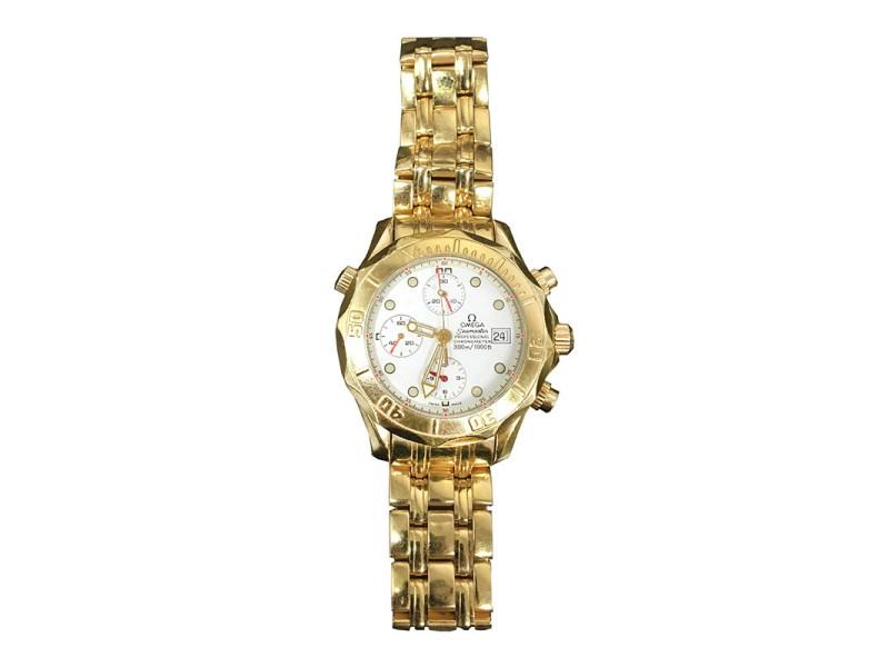 Omega Seamaster Professional 18K Yellow Gold Mens Watch