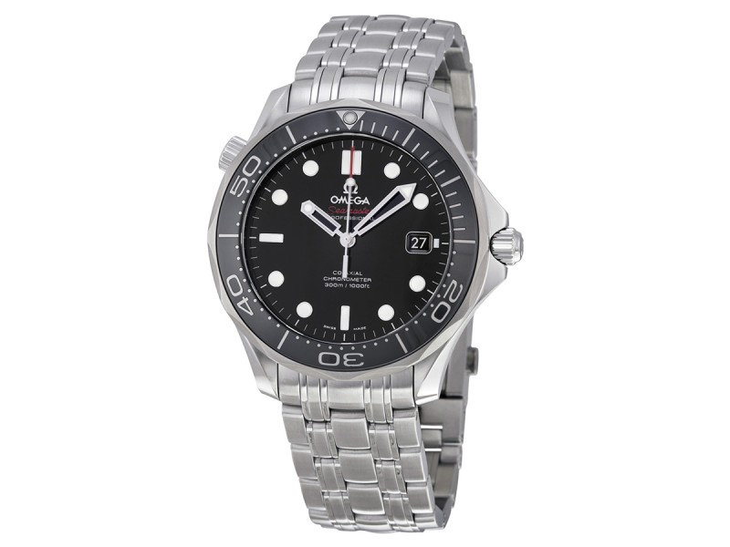 Omega Seamaster Black Dial Automatic Steel Men's Watch
