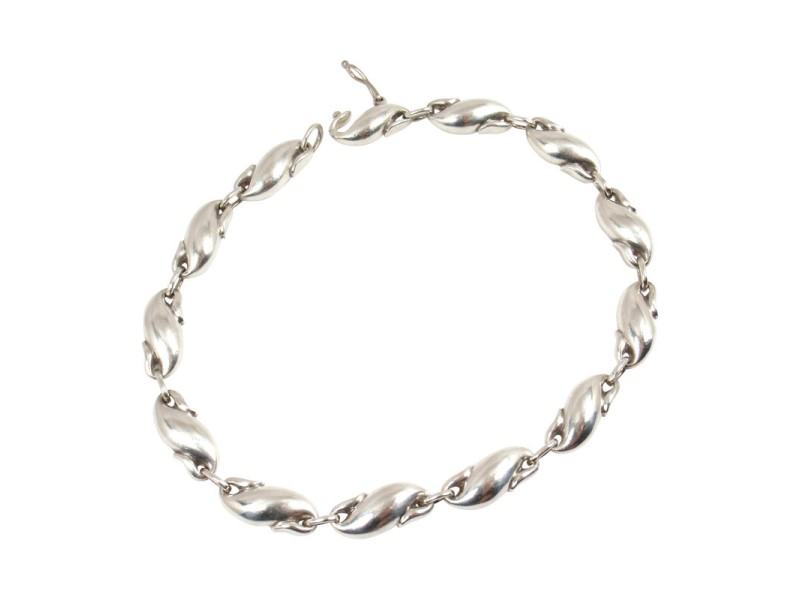 Tiffany Co. Sterling Silver Peretti Seahorse Link Bracelet