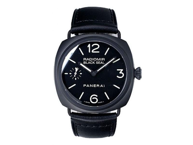 Panerai Radiomir PAM00292 Black Ceramic / Leather 45mm Mens Watch
