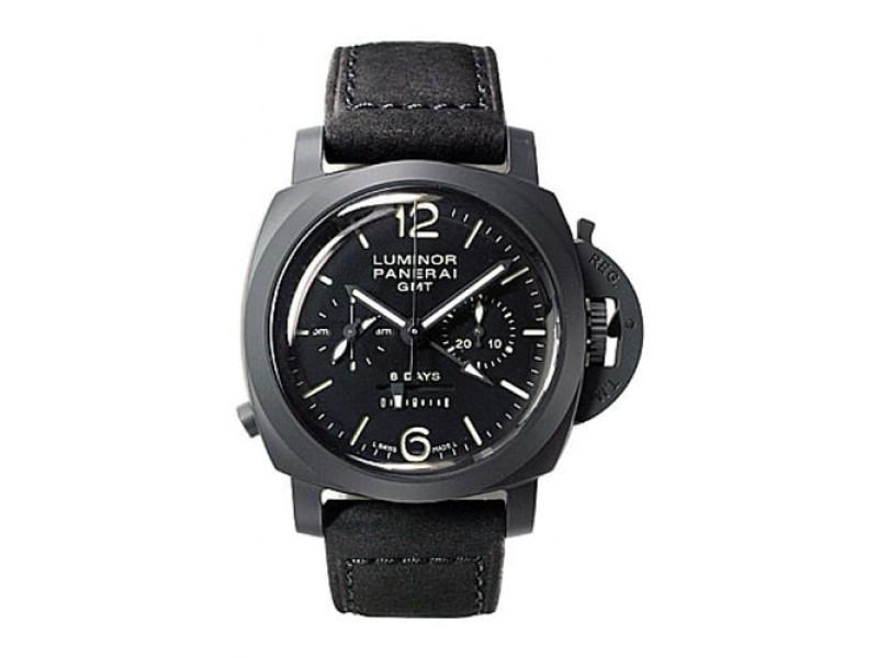 Panerai Luminor PAM00317 Black Ceramic / Leather 44mm Mens Watch