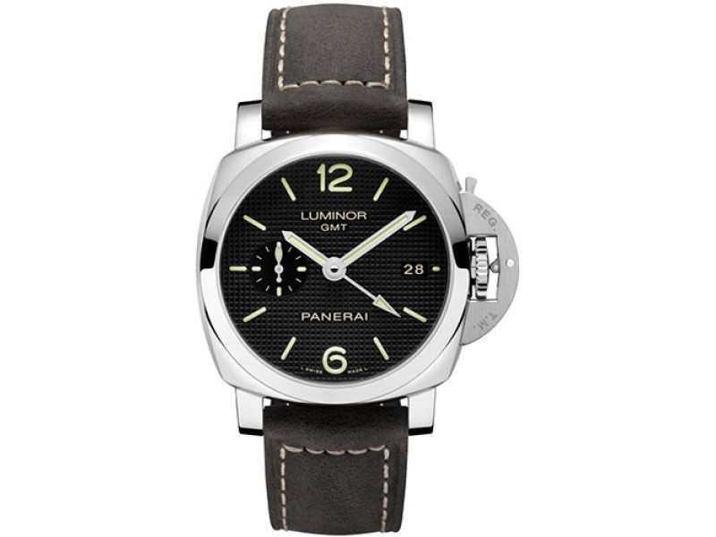 Panerai Officine Luminor Stainless Steel / Leather Automatic 42mm Mens Watch