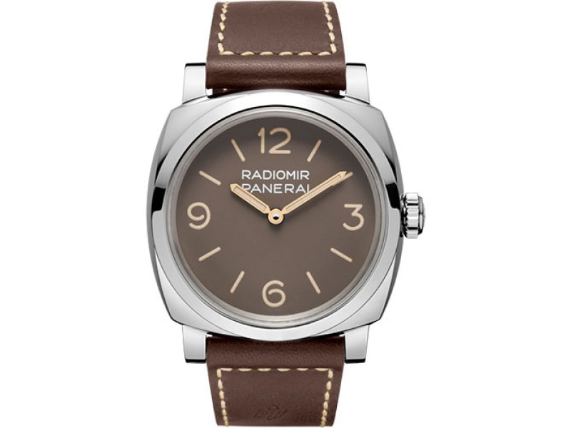 Panerai Radiomir Stainless Steel / Leather Hand Wind 47mm Mens Watch