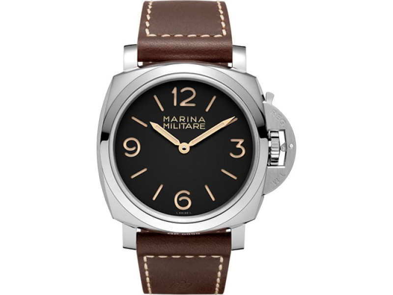 Panerai Luminor Stainless Steel / Leather Limited Edition Hand Wind 47mm Mens Watch
