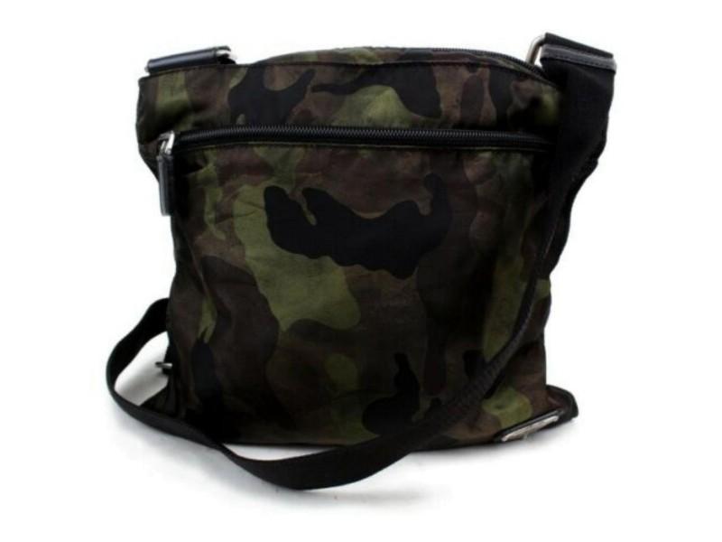 Prada Messenger Camouflage 872849 Green Nylon Cross Body Bag