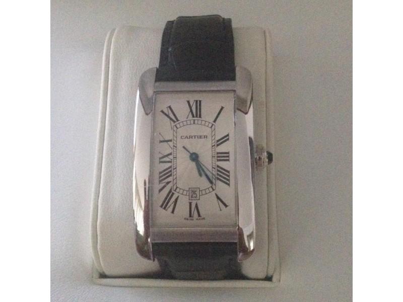 Cartier Tank Americaine W2605556 45.1mm Mens Watch