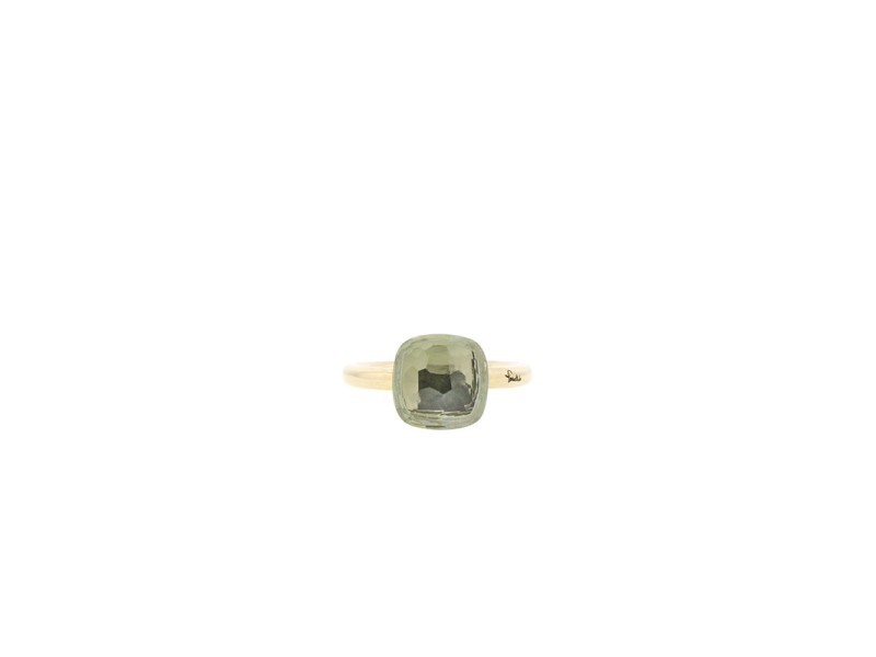 18k Rose Gold Pomellato Nudo Praisolite  Ring Grande