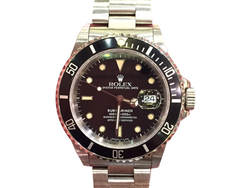 Rolex Submariner 16610 40mm Stainless Steel Black Dial Watch