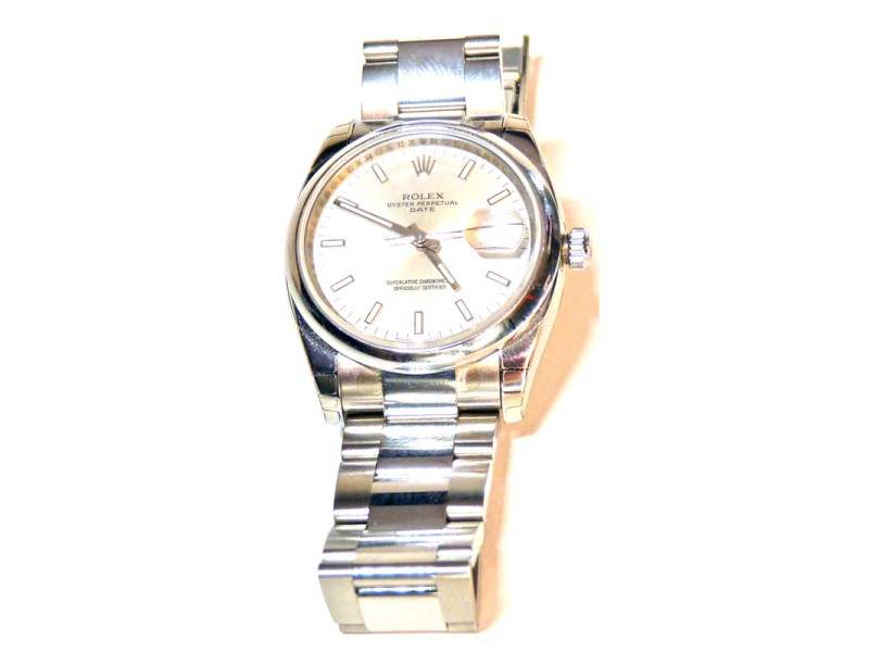 Rolex Date 115200 Stainless Steel Silver Dial 34mm Watch