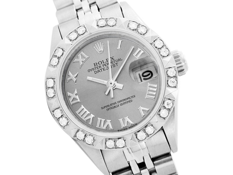 Rolex Datejust 6917 Stainless Steel Diamond and Sapphire 26mm Womens Watch