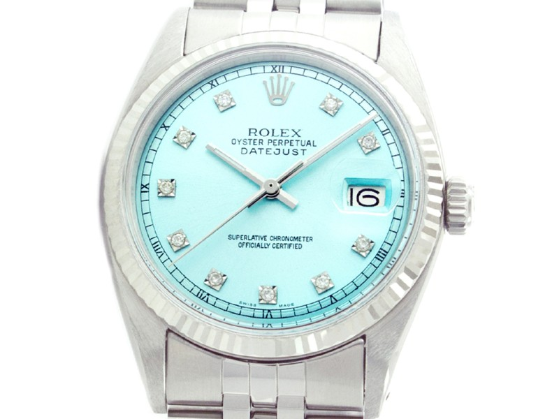 Rolex Datejust 1601 36mm 18K White Gold Stainless Steel Watch