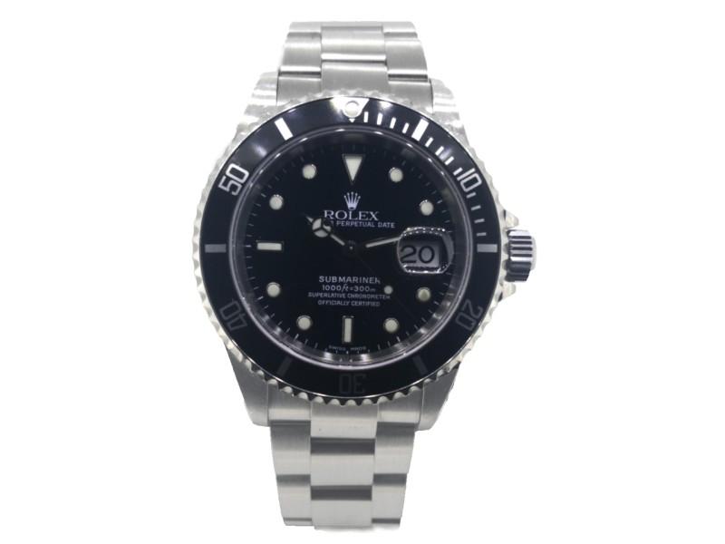 Rolex Submariner 16610 Black Dial Stainless Steel Watch