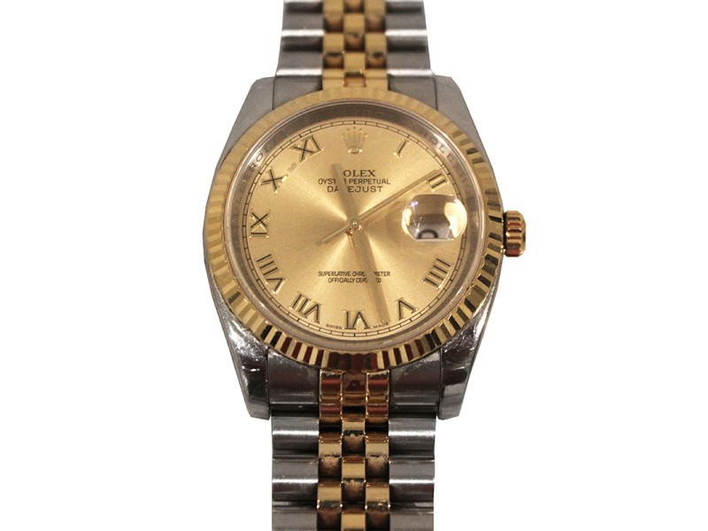 Rolex Datejust 116233CRJ 36mm Two-Tone Mens Watch