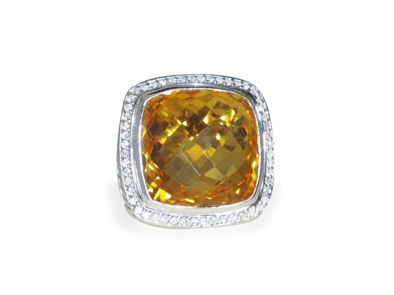 David Yurman Albion Citrine Diamond Sterling Silver Ring