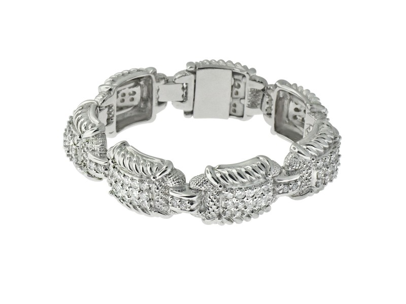 Judith Ripka 18K Gold 8.00 Carats Diamond Bracelet