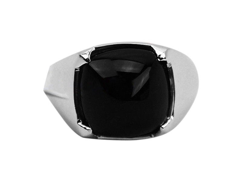 Baccarat Jewelry 925 Sterling Silver Medicis Onyx Ring