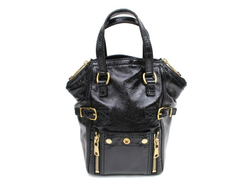 Saint Laurent Downtown Ysl 868591 Black Patent Leather Tote