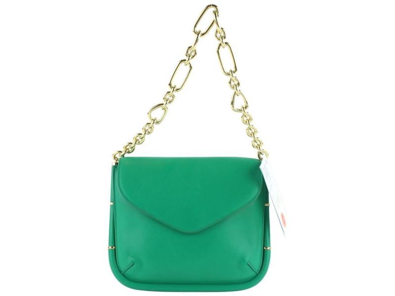 Salvatore Ferragamo Emerald Chain Flap 23MZ1102