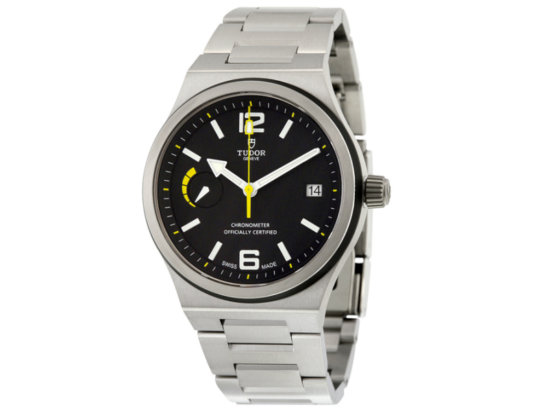 Tudor North Flag Black Dial Stainless Steel Automatic Mens Watch