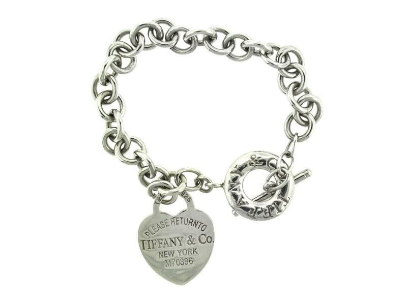 Tiffany & Co. Sterling Silver Return to Tiffany Heart Toggle Bracelet
