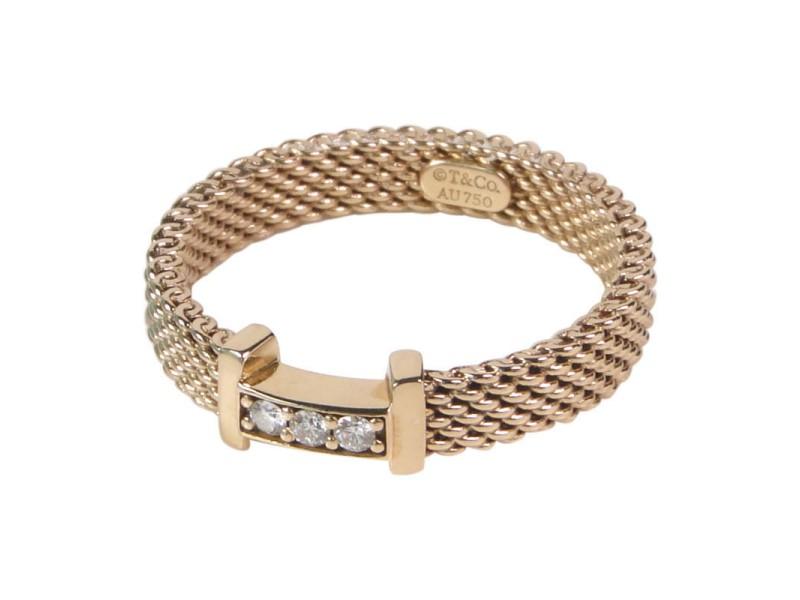 Tiffany & Co. Rose Gold & Diamonds Ring
