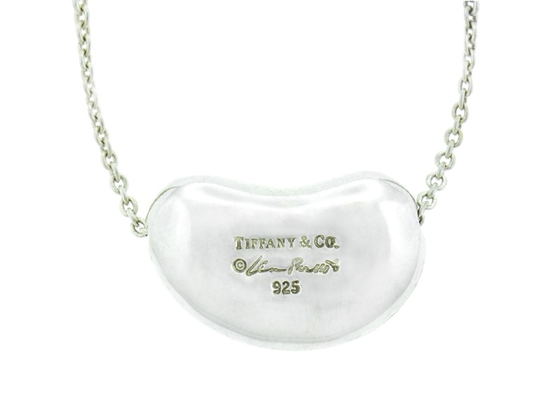 Tiffany & Co. Elsa Peretti Sterling Silver Large Bean Necklace