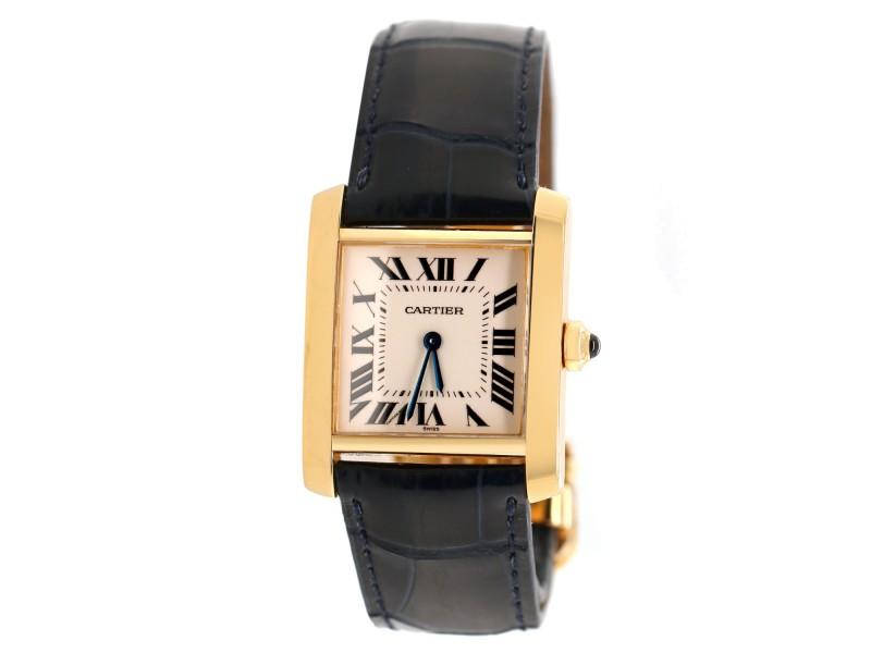 Cartier Tank Francaise 18K Yellow Gold Watch 1821