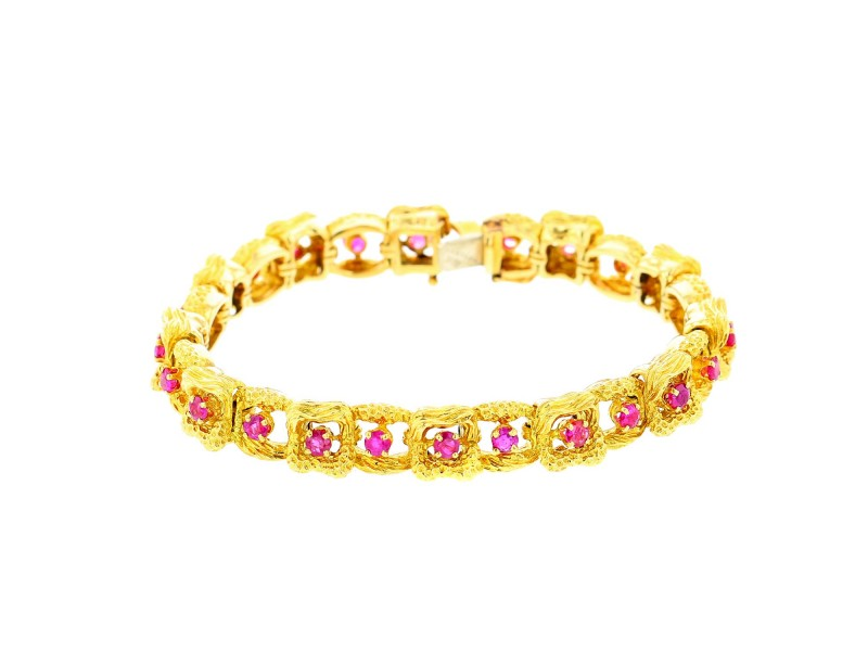 Tiffany & Co. Yellow Gold Ruby Bracelet