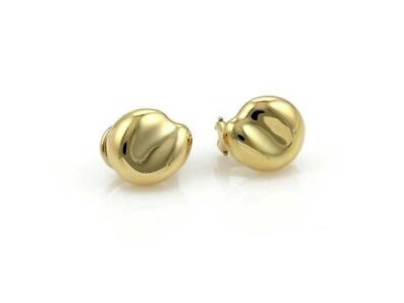 Tiffany & Co. Peretti Large Nugget 18k Yellow Gold Earrings