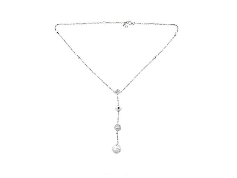 Piaget 18K White Gold Limelight Disco Ball Diamond Necklace