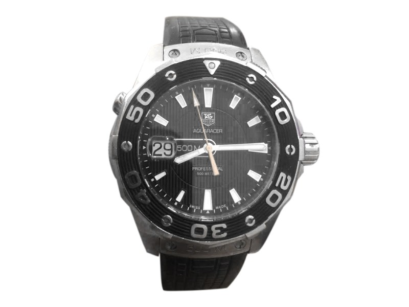 Tag Heuer Aquaracer 500m Stainless Steel & Rubber 41mm Watch