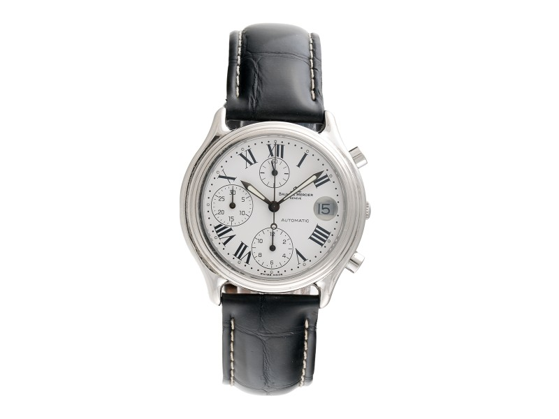 Baume & Mercier Chronograph Stainless Steel Automatic Mens 36.5mm Watch