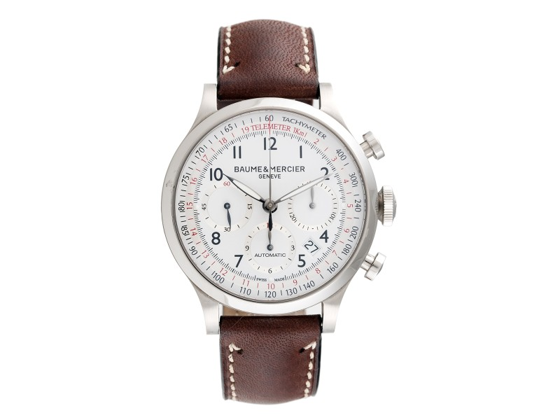 Baume & Mercier Capeland Stainless Steel Chronograph 42mm Mens Watch