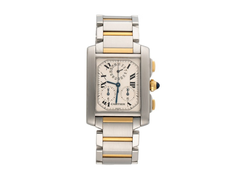 Cartier Tank Chronoflex 2303 28mm Womens Watch