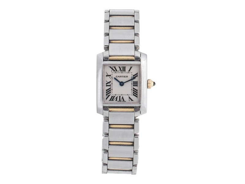Cartier Tank Francaise 2384 Two Tone Womens Watch